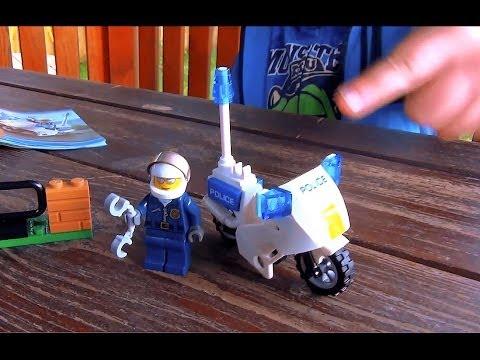Lego City Policjant I Motor Police Bike Crook Pursuit 60041