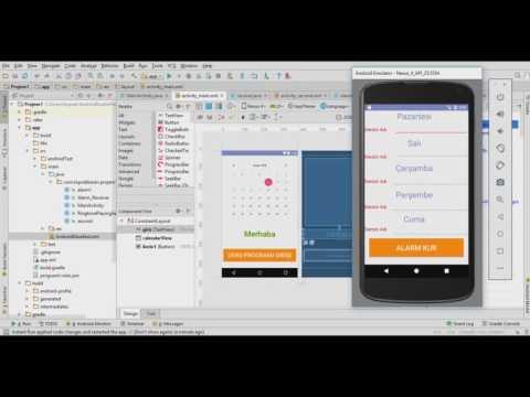 Android Studio - Başlangıç ve Alarm uygulamasına Giriş