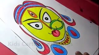 How to Draw Hindu Goddess Durga Simple Drawing Step by Step  for Kids