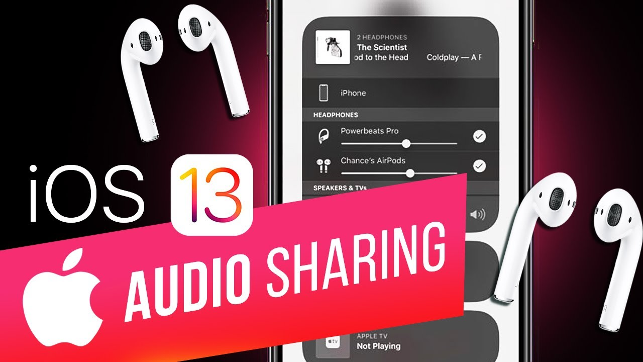 How to Share your Audio with Two AirPods in iOS 13 | Share Music with Friends on iPhone