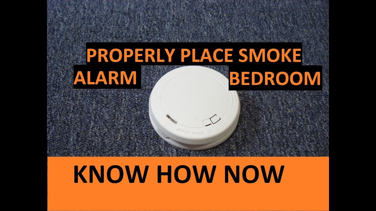 Where To Put A Smoke Alarm Or Smoke Detector In A Bedroom Youtube