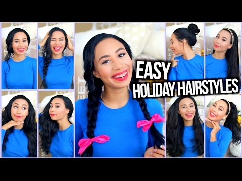 Thumbnail: Easy Heatless Hairstyles for the Holidays + Holiday Curls Tutorial!