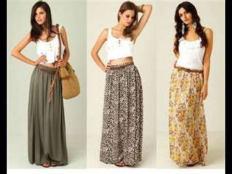 how to make a maxi skirt in 5min easy for beginners sewing - YouTube