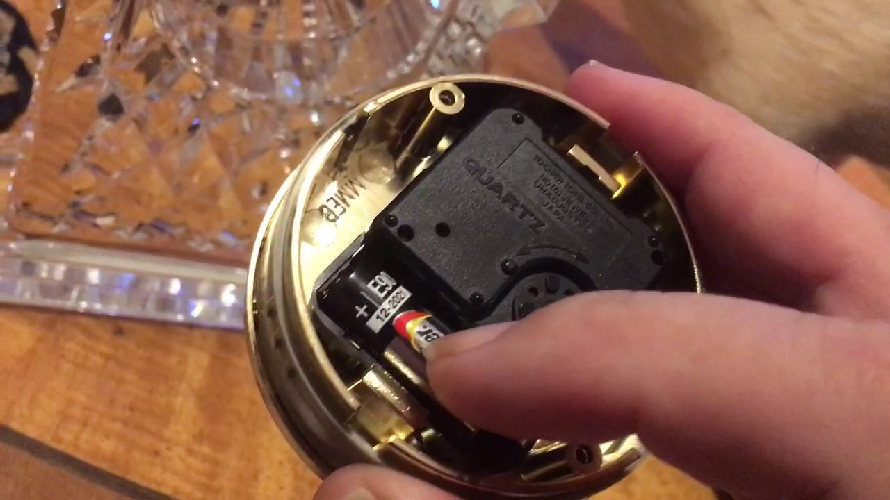 Waterford Crystal How To Set Time And Replace Battery On A Clock