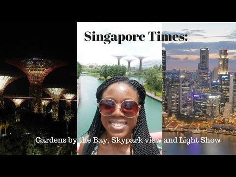 Singapore Times: Gardens by the Bay, Skypark view and Light show
