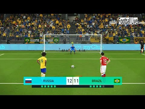 PES 2018 | Russia vs Brazil | Penalty Shootout | Gameplay PC