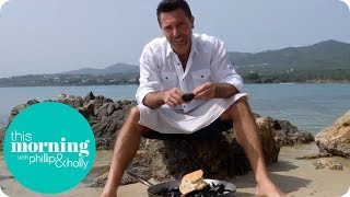 Gino Cooks Mussels and Clams on Italian Beach   This Morning