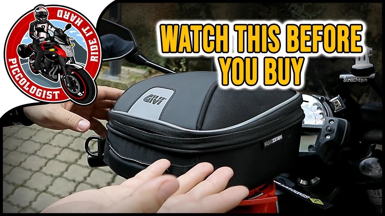 Givi Xs 319 Bag With Easy Tank Lock System Review And Installation Youtube