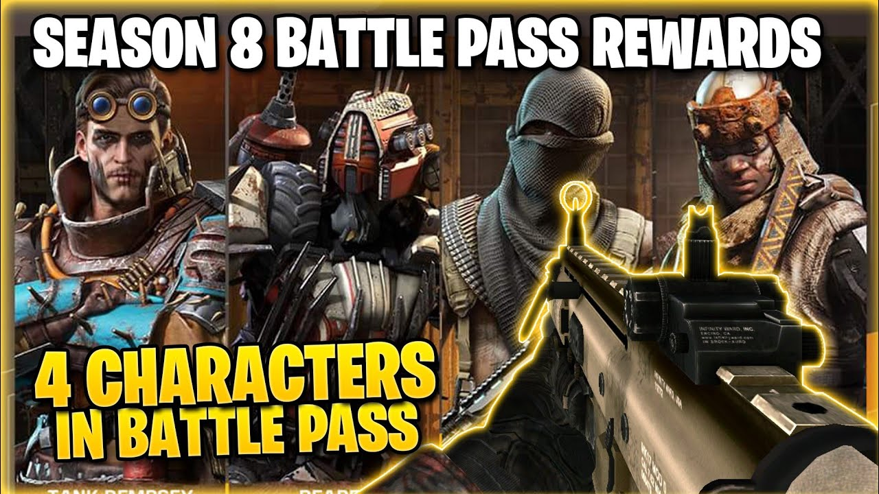 Call Of Duty Mobile Season 8 Battle Pass Rewards Cod Mobile