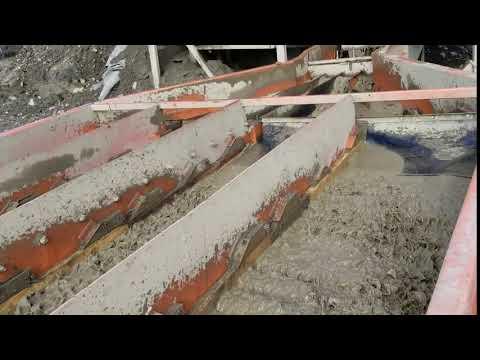 Northstar Trommel - sluice runs during flow