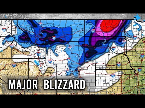 Major Blizzard Aubrey Forecast