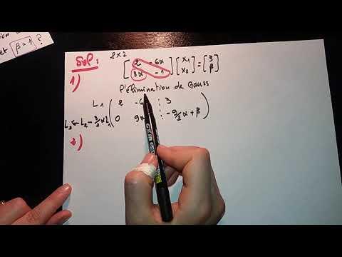 Élimination De Gauss -exercice Corrigé-