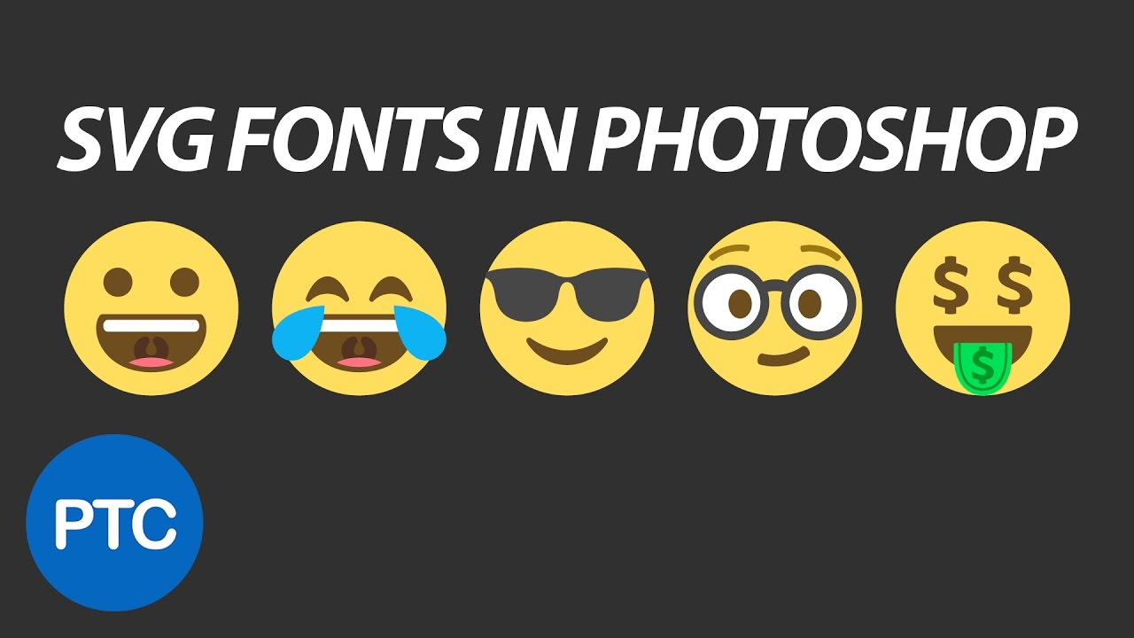 SVG Fonts In Photoshop CC 2017 - Emojis In Photoshop! - YouTube