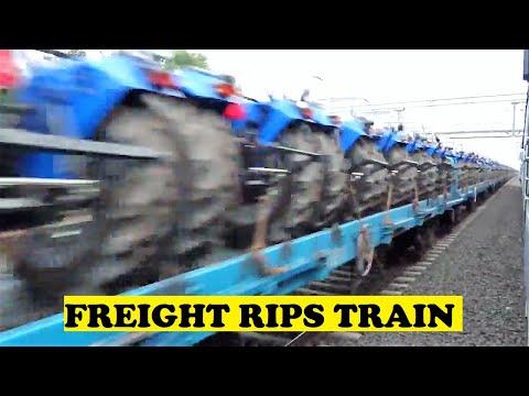 Twin Loco Tractor Freight Honks Overtakes Dehradun Mumbai