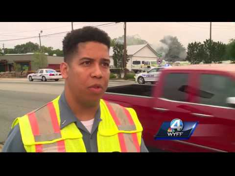 A Greenville car rental business' garage is a total loss after fire