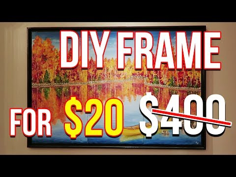 DIY Frame For 20$ - How To Make Picture Frame At Home For Less