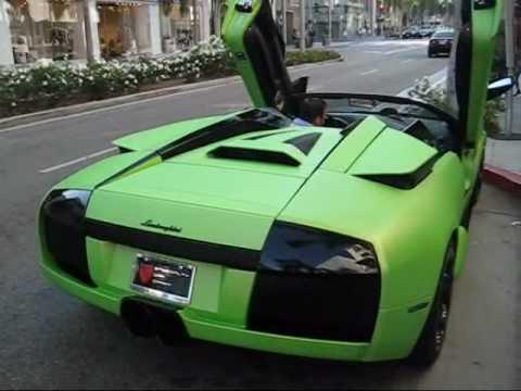 Matte Green Lamborghini Murcielago Roadster Youtube