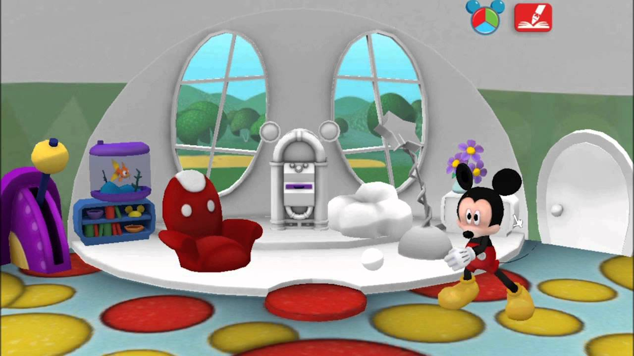 Mickey mouse clubhouse color paint play children kids for Room painting games