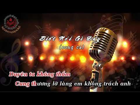 KARAOKE | Biết Nói Gì Đây | Song ca