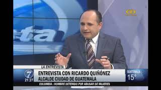 Ricardo Quiñónez habla de su experiencia como alcalde de Ciudad de Guatemala