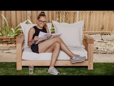 DIY Outdoor Sofa! | Woodbrew