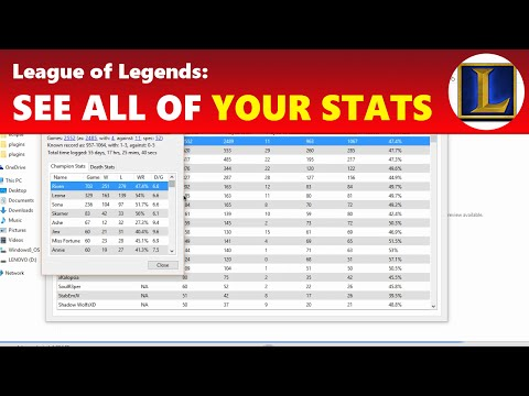 League of Legends See All Your Past Games & Champ Stats