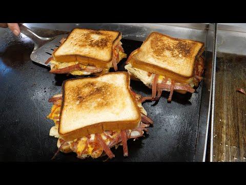 햄-치즈-에그-토스트-/-ham-cheese-egg-toast---korean-street-food