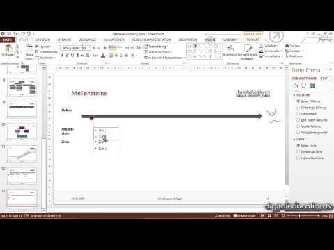 PowerPoint-Präsentationen professionell erstellen und präsentieren - Beispiel für Meilensteine
