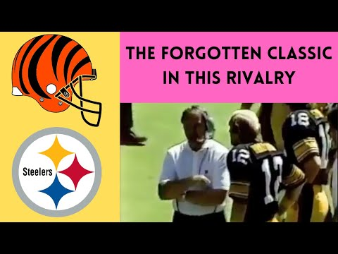 [OC] [Highlight] In OT of a 1982 game against the Bengals, Terry Bradshaw wanted to kick the field goal. Chuck Noll wanted to run the ball. For some reason, they called a pass, which no one wanted… and it ended in a touchdown. This is the story of the time the Steelers won on a play no one wanted
