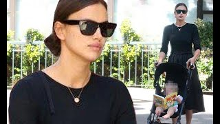 Irina Shayk looks oh so chic in black frock on outing with baby Lea De Seine - 247 News