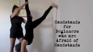 yoga handstand for beginners who are afraid of handstands - shana meyerson YOGAthletica
