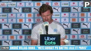 """Ligue 1 : """"Metz aurait pu battre Lille et Paris"""" (Villas-Boas)"""