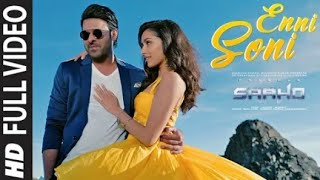 saaho enni sohni lyrics parbas guru randhawa t series new song punjabi 2019
