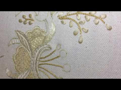 Искусство якобинской вышивки. Седьмая часть. Новое - рельефный стебельчатый шов. Плетение иглой.