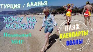 Турция Аланья пляж Клеопатра подводный мир Море Волны Пляж смотрите на ютуб