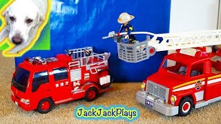 4 Fire Trucks For Kids Surprise Toys Unboxing - Daddy's Toy Review 2 - Fireman Sam