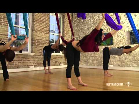 Aerial Hammock Conditioning - FULL Workout - Aerial Asana/Yoga - Lydia Michelson-Maverick