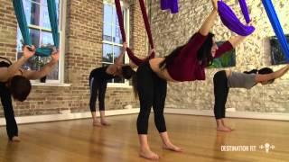 Aerial Hammock Conditioning - FULL Workout - Aerial Asana/Yoga - Lydia Michelson-Maverick