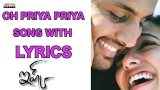 Oh Priya Priya Full Song With Lyrics - Ishq Songs - Nitin, Nitya Menon, Anoop Rubens