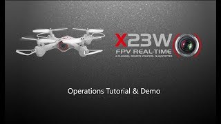 Syma X23W Operation Tutorial