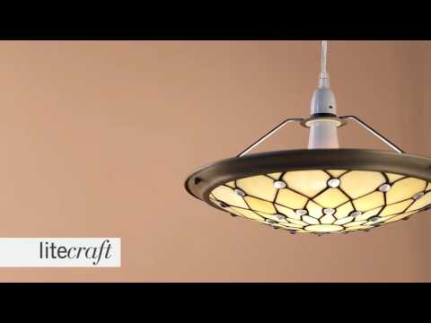 Tiffany Jewel Easy to Fit Ceiling Uplighter Shade - Honey | Litecraft - Lighting Your Home