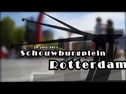 Video: Arjan Jansen Rueda de Casino Schouwburgplein Rotterdam met zomercarnaval 2014