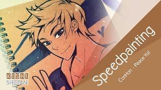KishiShiotani - Speedpainting - ConHon - Peace Yo!