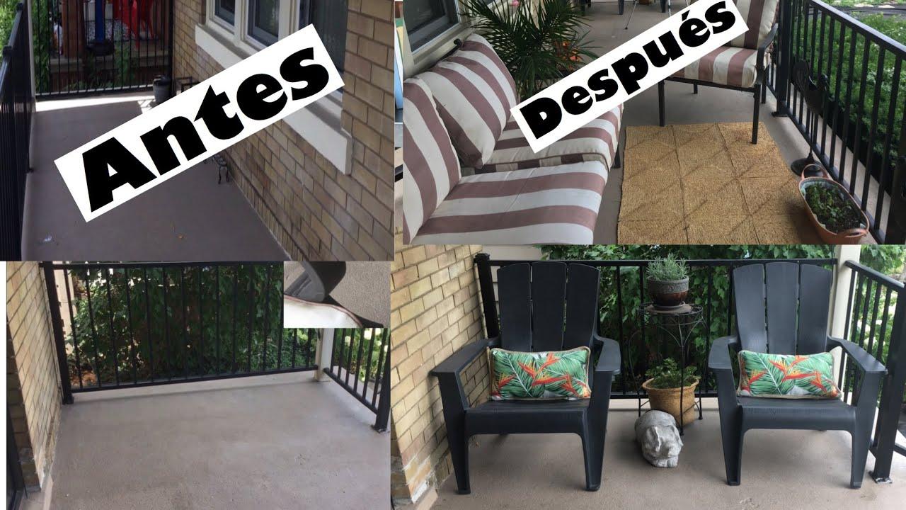 Como Decorar La Terraza Balcon Con Poco Dinero Colaboración Simplimente Mikauly
