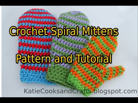 Crochet Spiral Mittens Tutorial