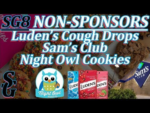 Non-Sponsors: Luden's Cough Drops, Sam's Club, Night Owl