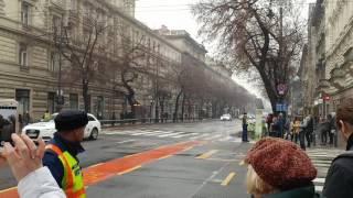 Orosz elnöki konvoj Budapesten - Russian presidential motorcade Budapest