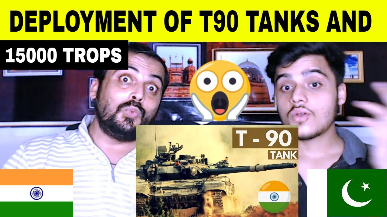 Pakistani reaction on | Deployment of more than 15,000 troops in Depsang sectors with T-90 tanks