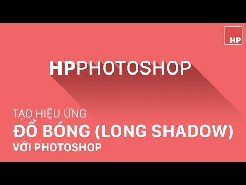 Tạo hiệu ứng đổ bóng cho chữ, logo hoặc shape theo style flat design (long shadow)   HPphotoshop.com