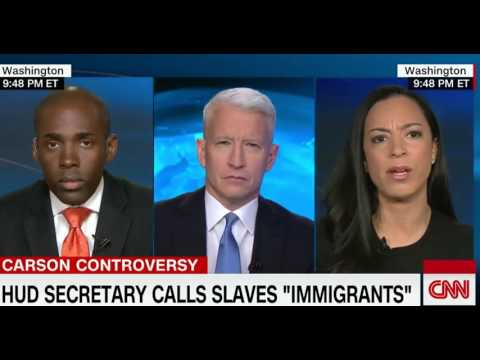 🇺🇸 Anderson Cooper Takes On Ben Carson Saying  Slaves Were Immigrants  🇺🇸 🇺🇸 🇺🇸